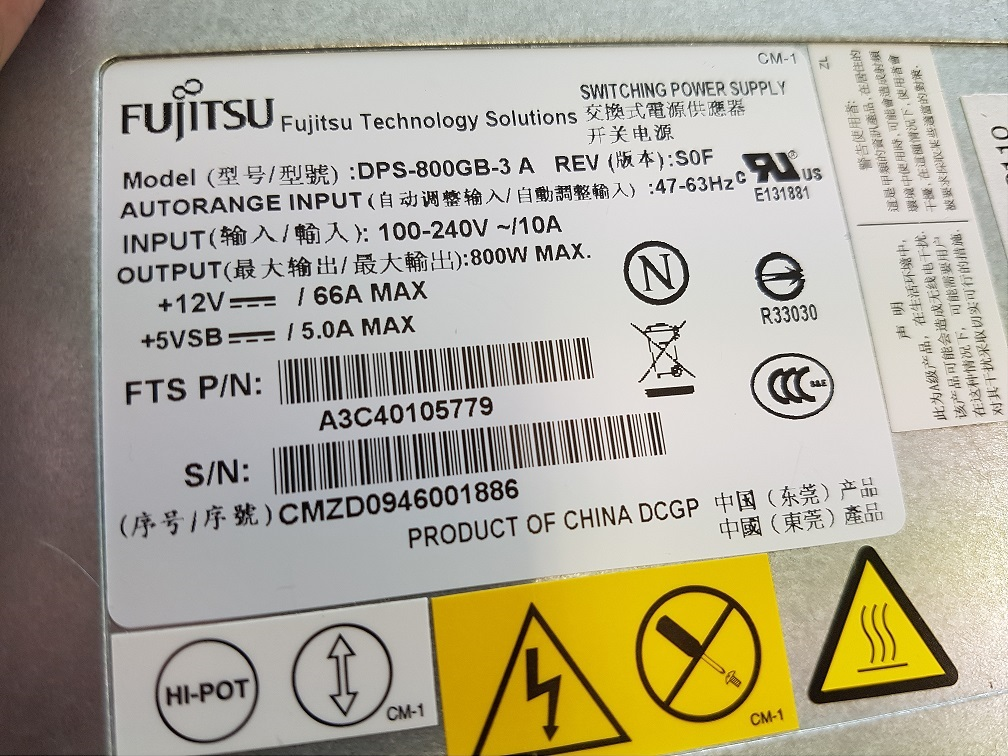 Standalone Server power supply mod [ Fujitsu DPS-800GB-3 A ...